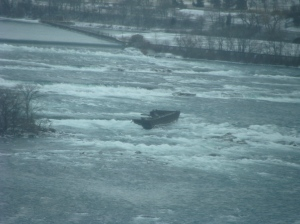 The Niagara Scow, as seen from above. Photo by Heather Elliott, 2010.