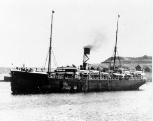 The SS Florizel under way