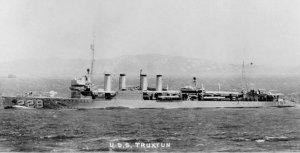 The USS Truxtun at sea