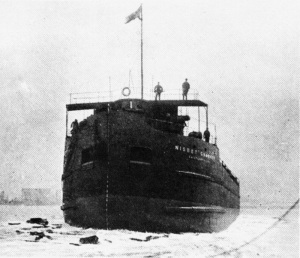 The Nisbet Grammer being launched in 1923.